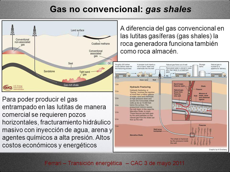 Gas no convencional: gas shales