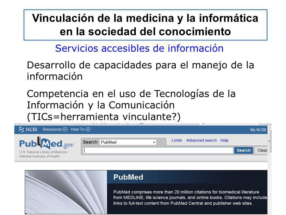 Servicios accesibles de información