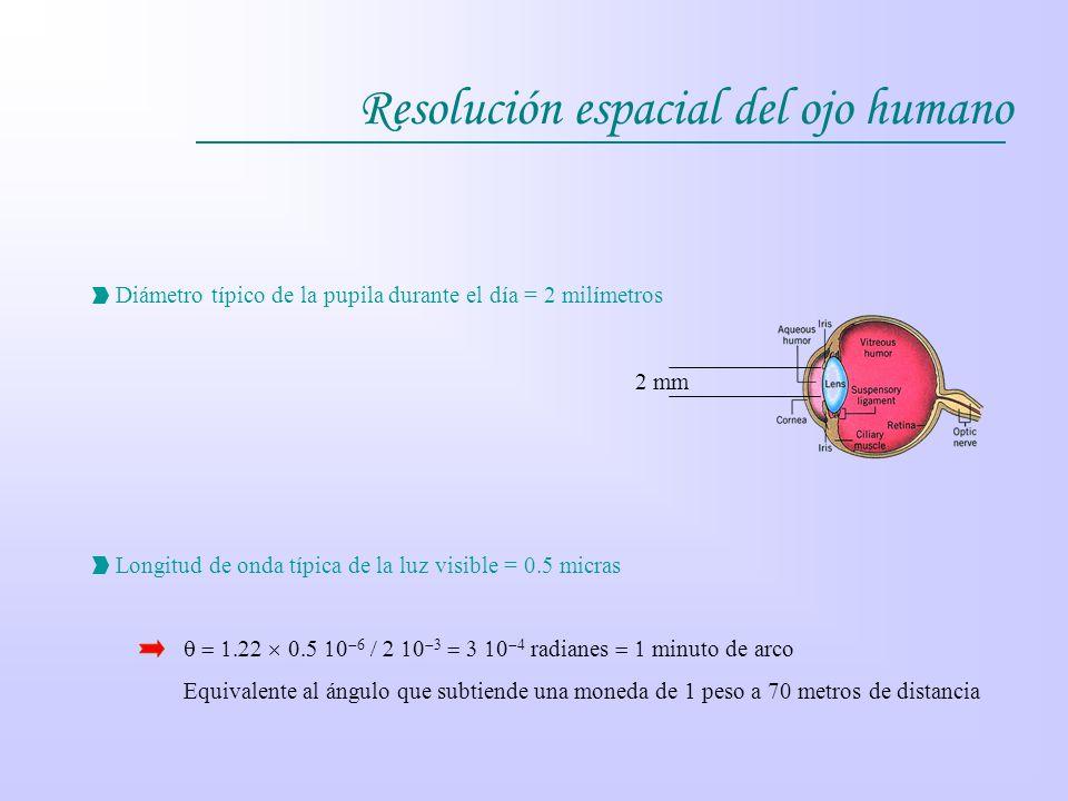 Resolución espacial del ojo humano
