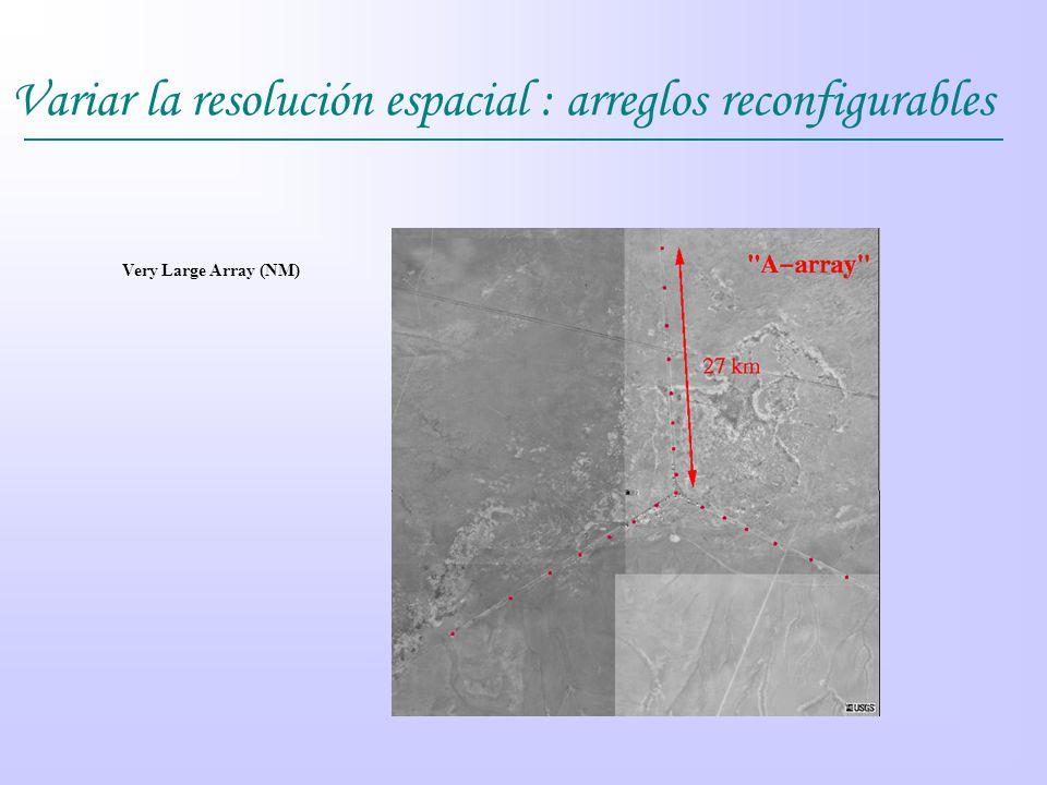 Variar la resolución espacial : arreglos reconfigurables