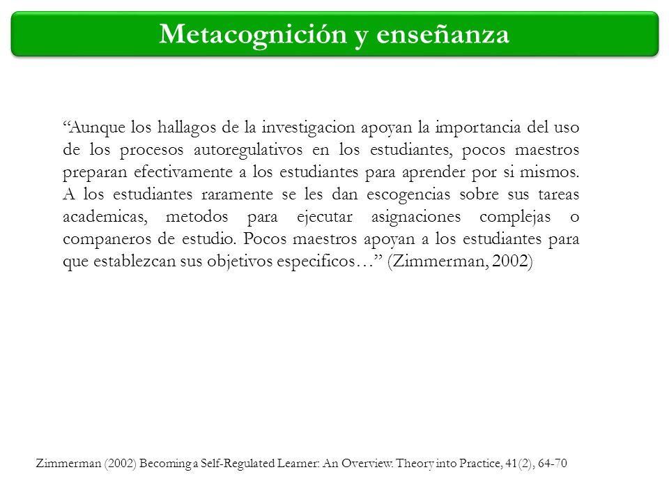Metacognición y enseñanza