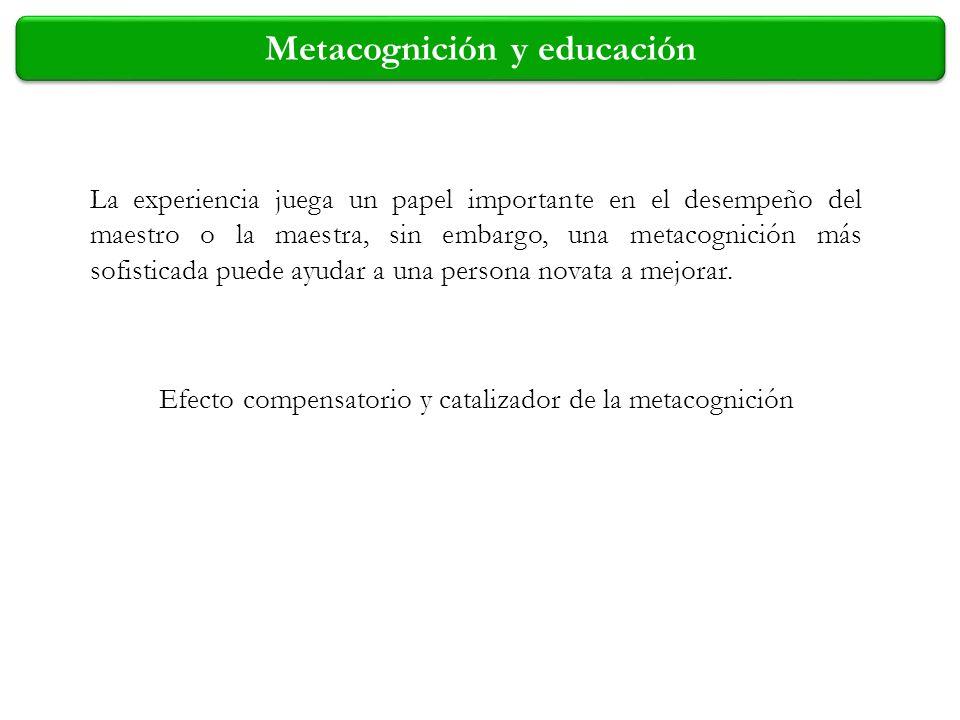 Metacognición y educación