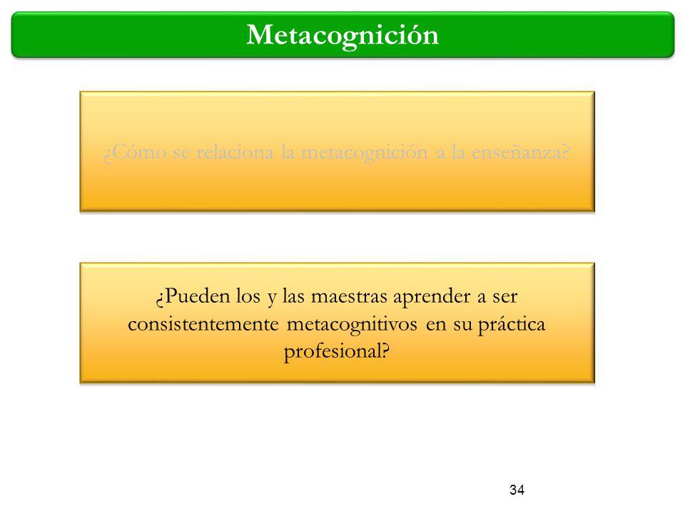 ¿Cómo se relaciona la metacognición a la enseñanza