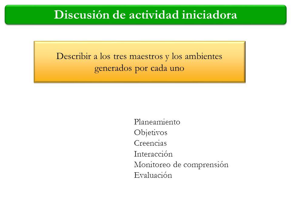 Discusión de actividad iniciadora