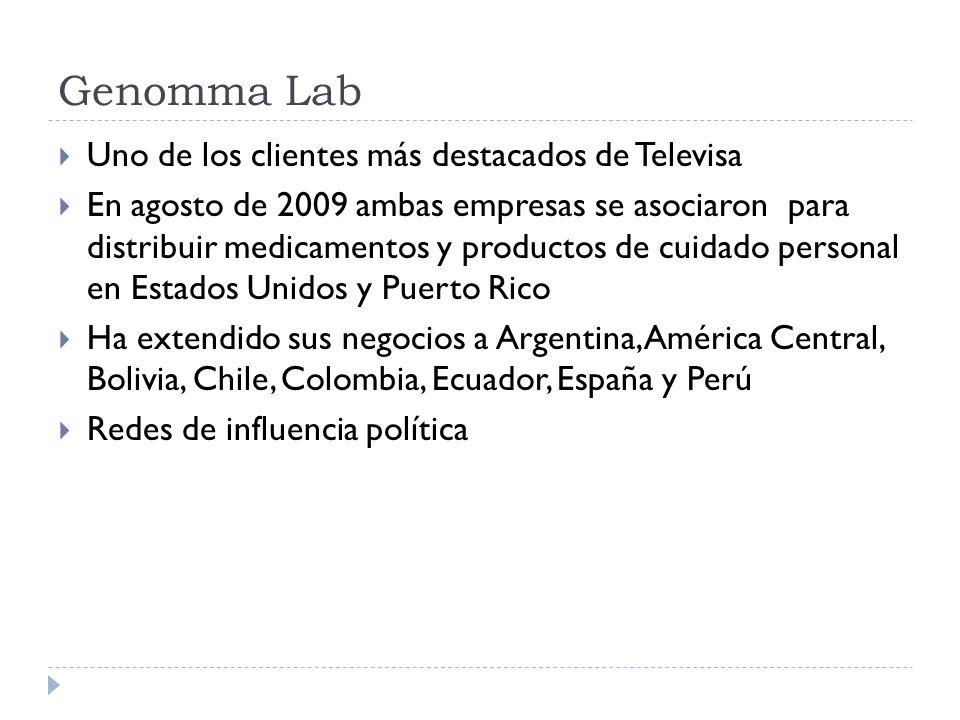 Genomma Lab Uno de los clientes más destacados de Televisa