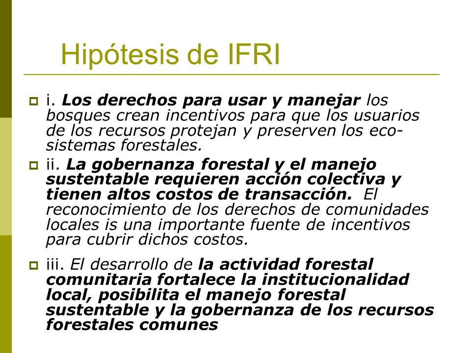Hipótesis de IFRI