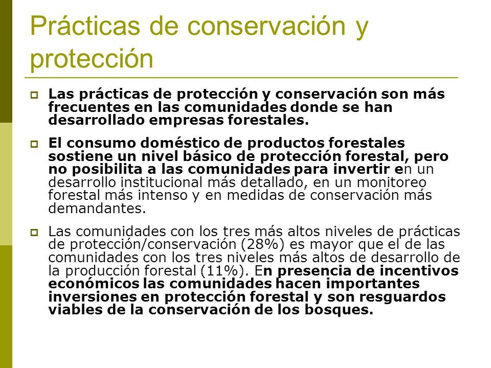 Prácticas de conservación y protección