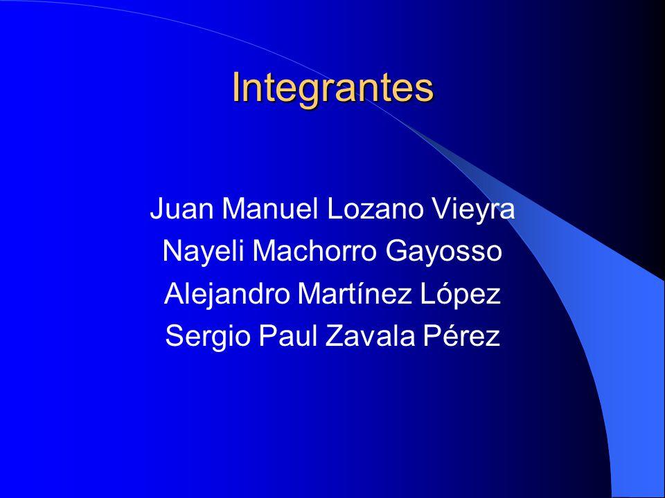 Integrantes Juan Manuel Lozano Vieyra Nayeli Machorro Gayosso