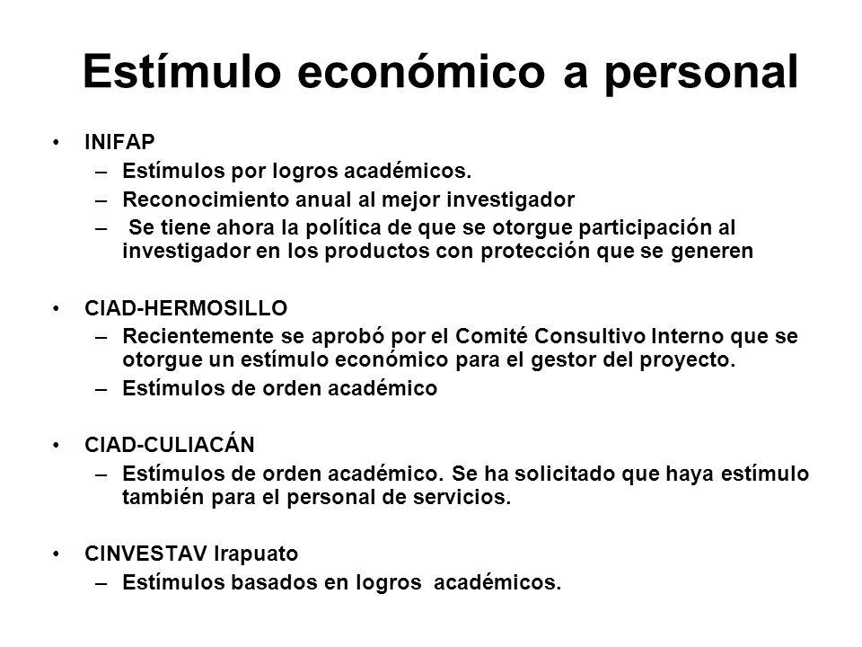 Estímulo económico a personal