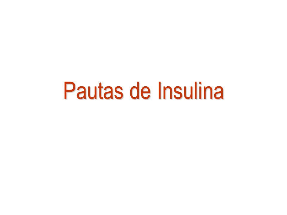 Pautas de Insulina