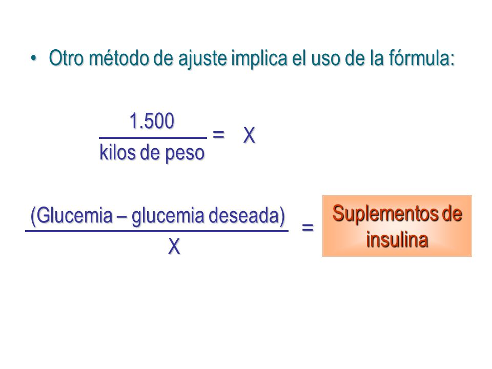 Suplementos de insulina
