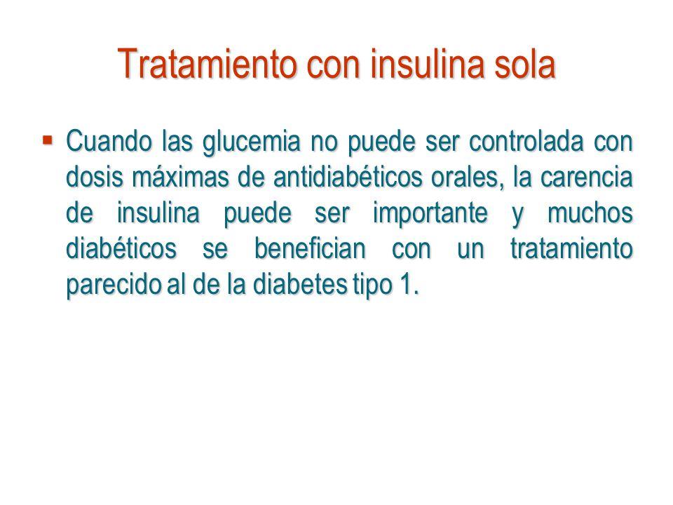 Tratamiento con insulina sola