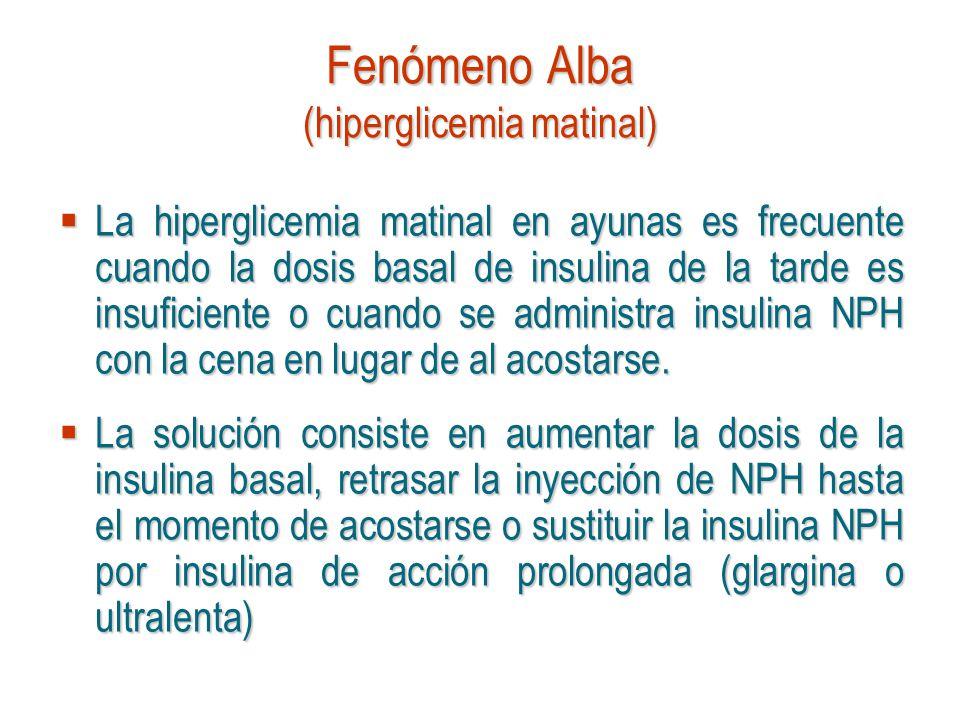 Fenómeno Alba (hiperglicemia matinal)