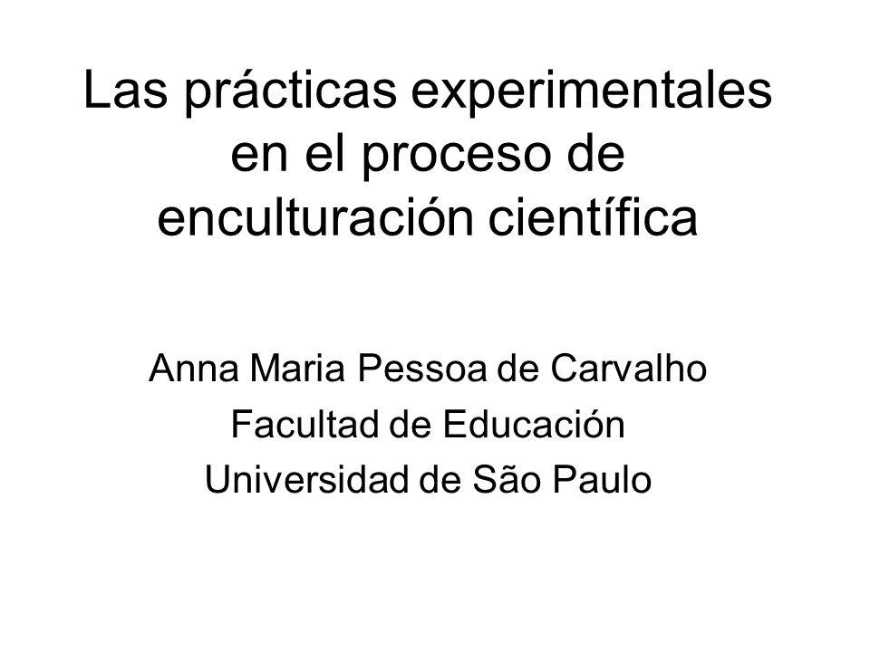 Las prácticas experimentales en el proceso de enculturación científica