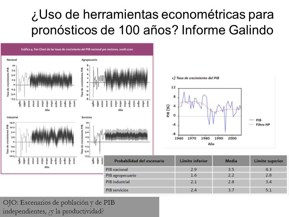 ¿Uso de herramientas econométricas para pronósticos de 100 años