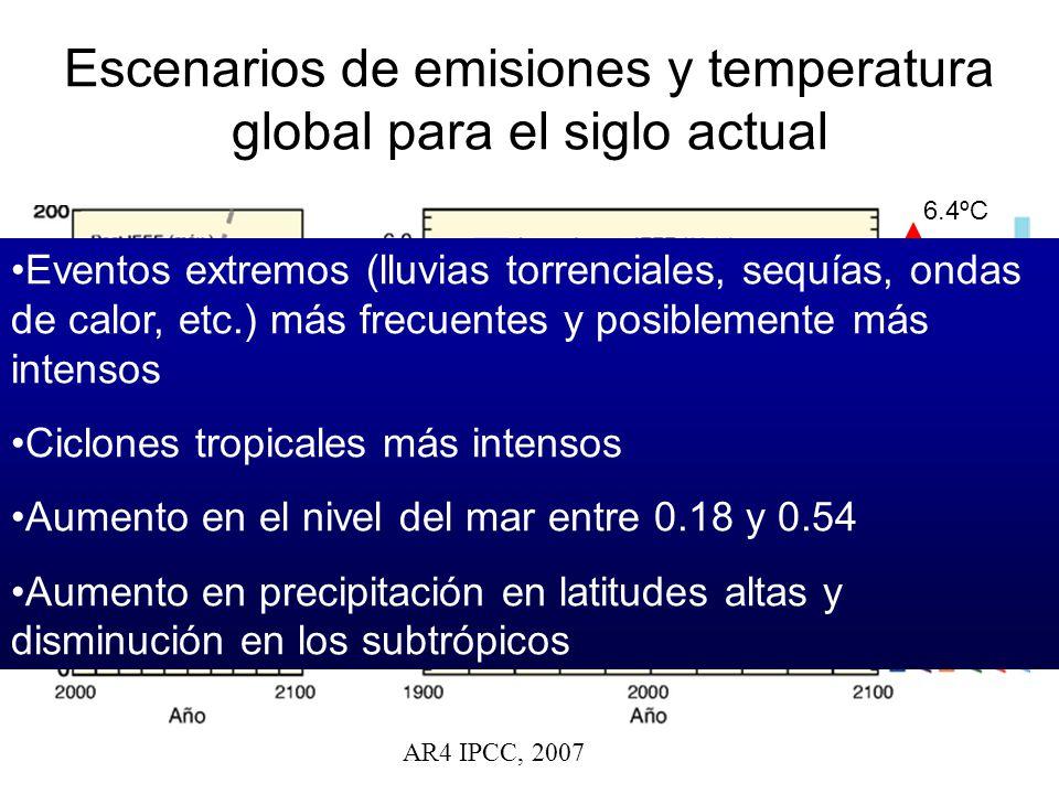 Escenarios de emisiones y temperatura global para el siglo actual