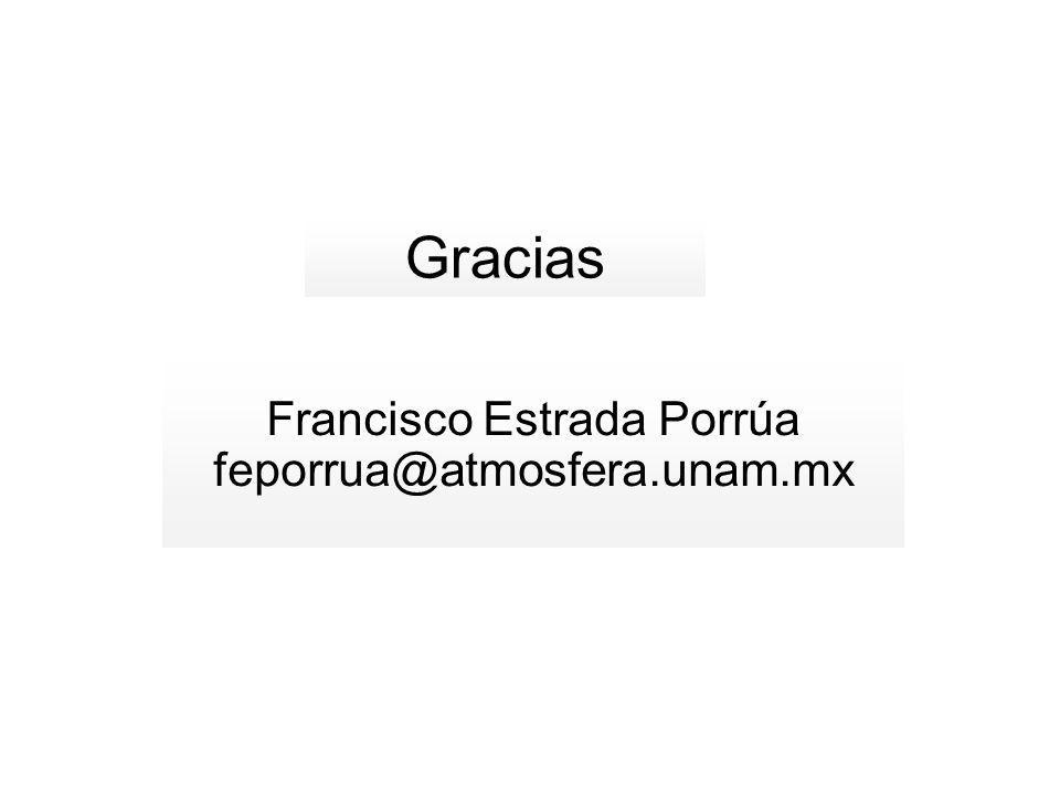 Francisco Estrada Porrúa feporrua@atmosfera.unam.mx