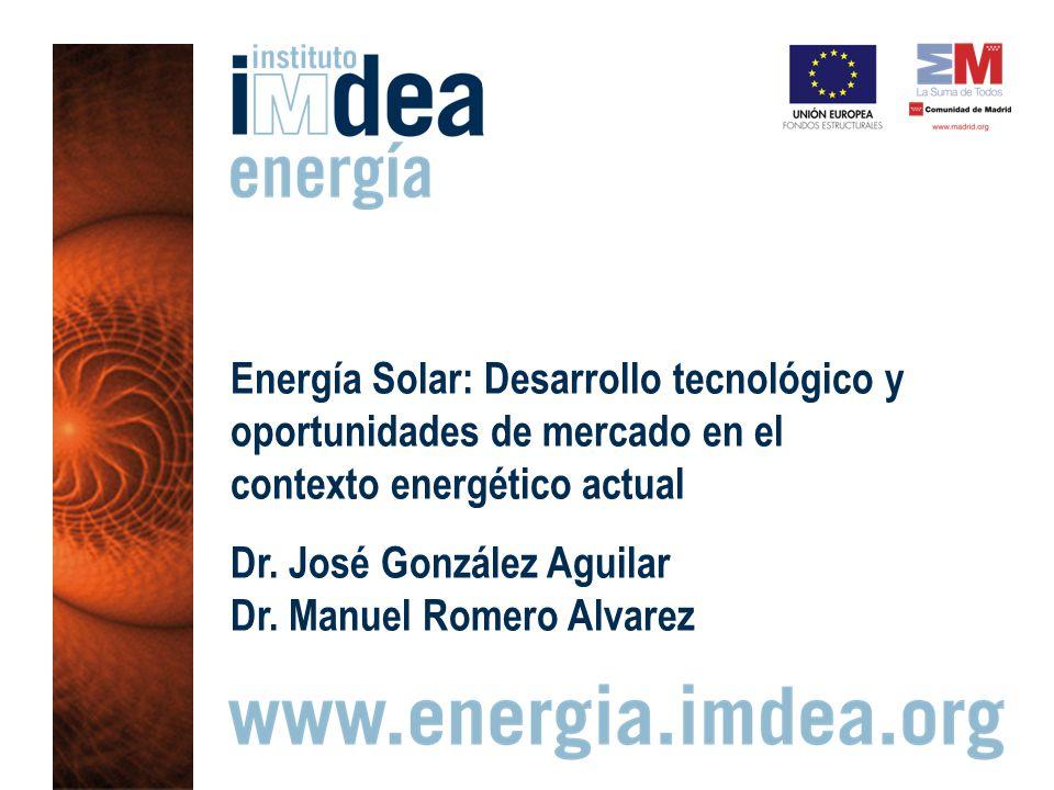 Energía Solar: Desarrollo tecnológico y oportunidades de mercado en el contexto energético actual