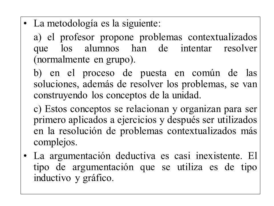 La metodología es la siguiente: