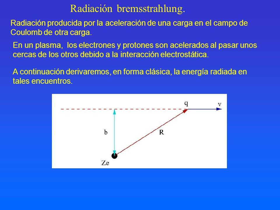 Radiación bremsstrahlung.