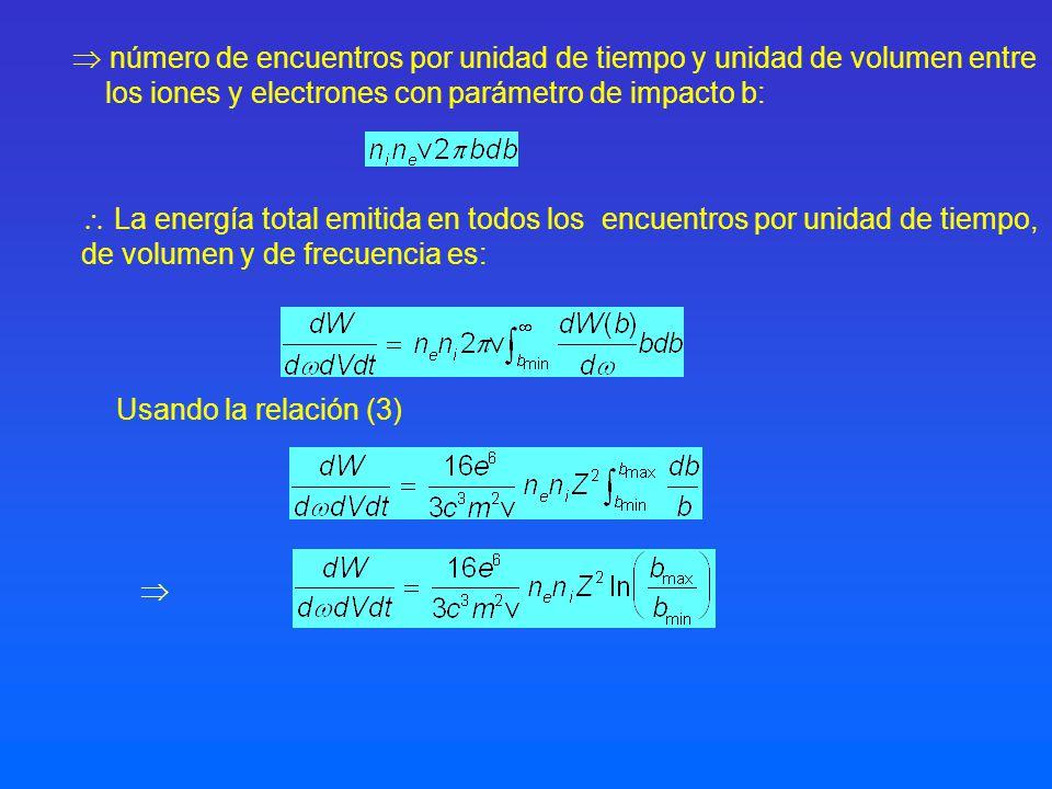  número de encuentros por unidad de tiempo y unidad de volumen entre