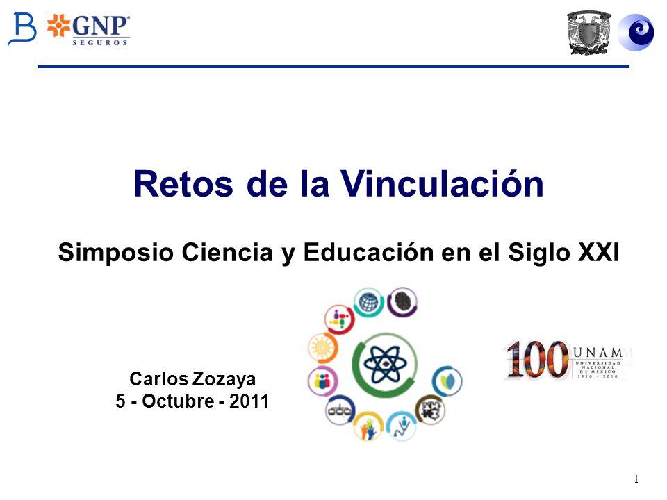 Retos de la Vinculación Simposio Ciencia y Educación en el Siglo XXI