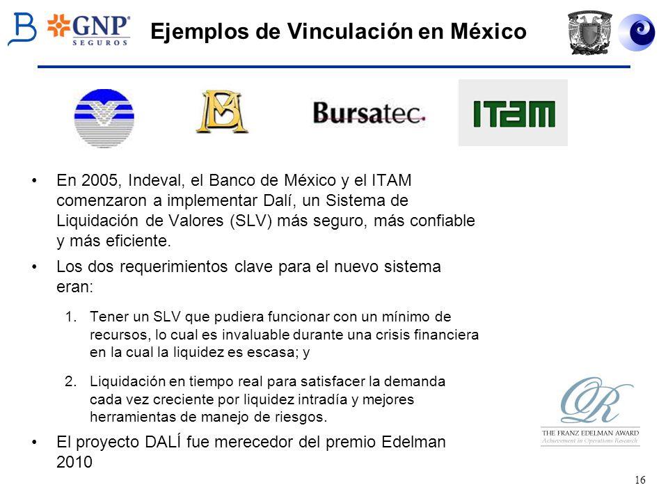 Ejemplos de Vinculación en México