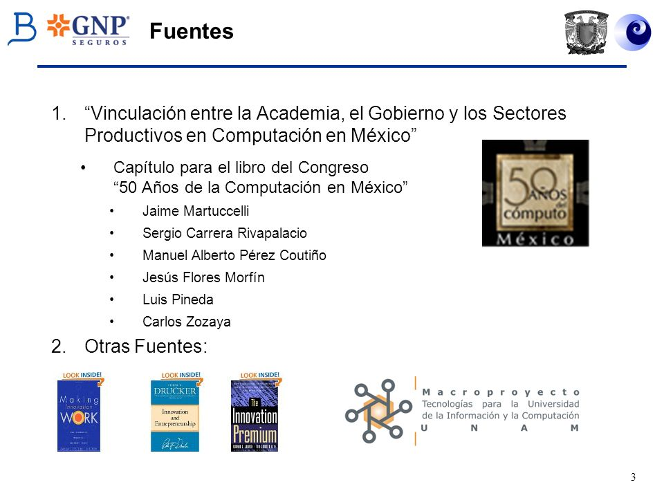 Fuentes Vinculación entre la Academia, el Gobierno y los Sectores Productivos en Computación en México