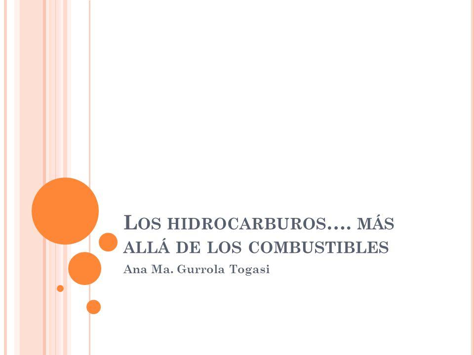Los hidrocarburos…. más allá de los combustibles