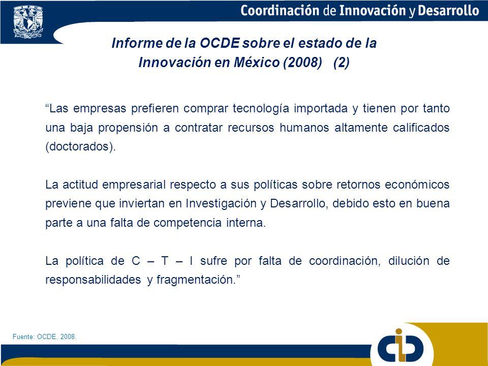 Informe de la OCDE sobre el estado de la