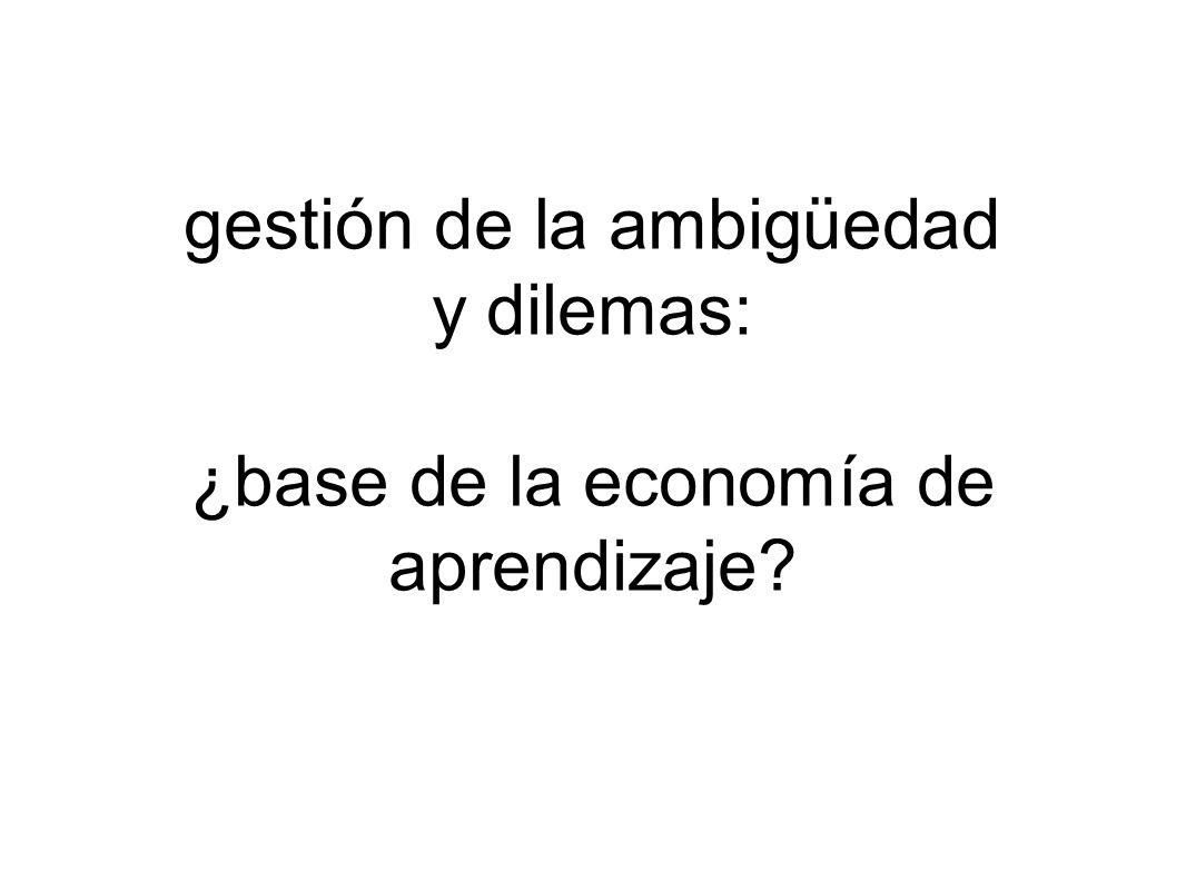 gestión de la ambigüedad y dilemas: