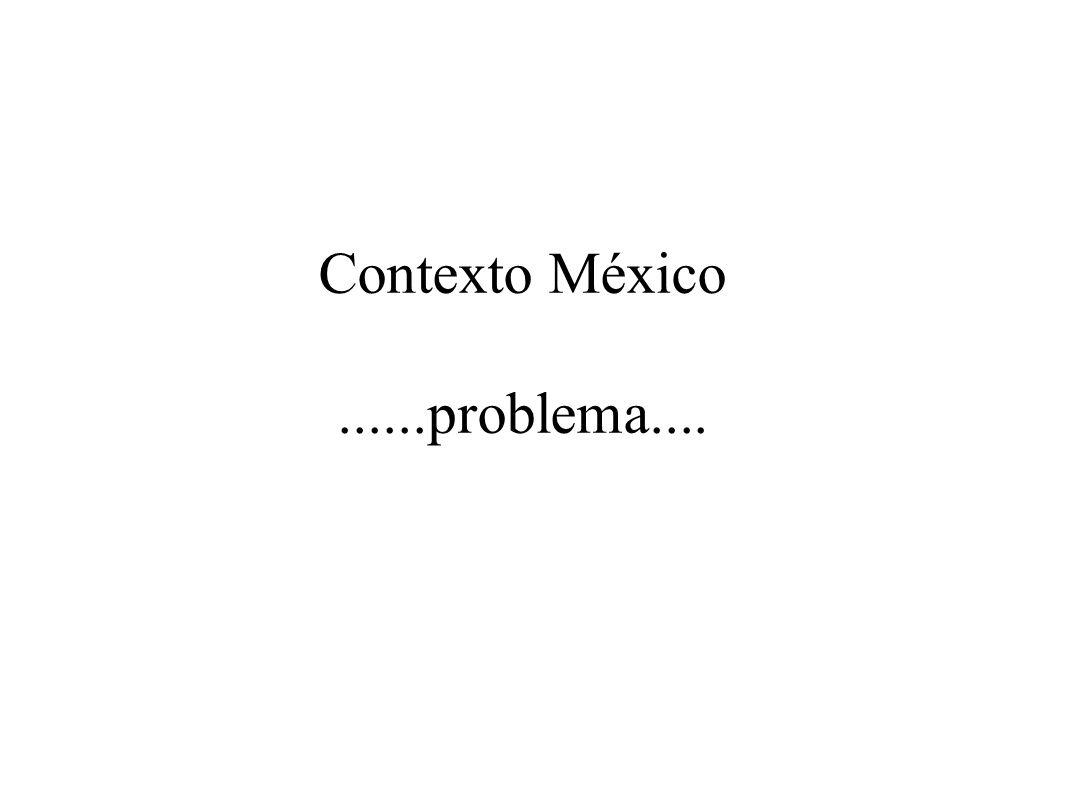 Contexto México ......problema....