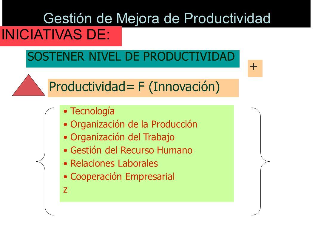 Gestión de Mejora de Productividad