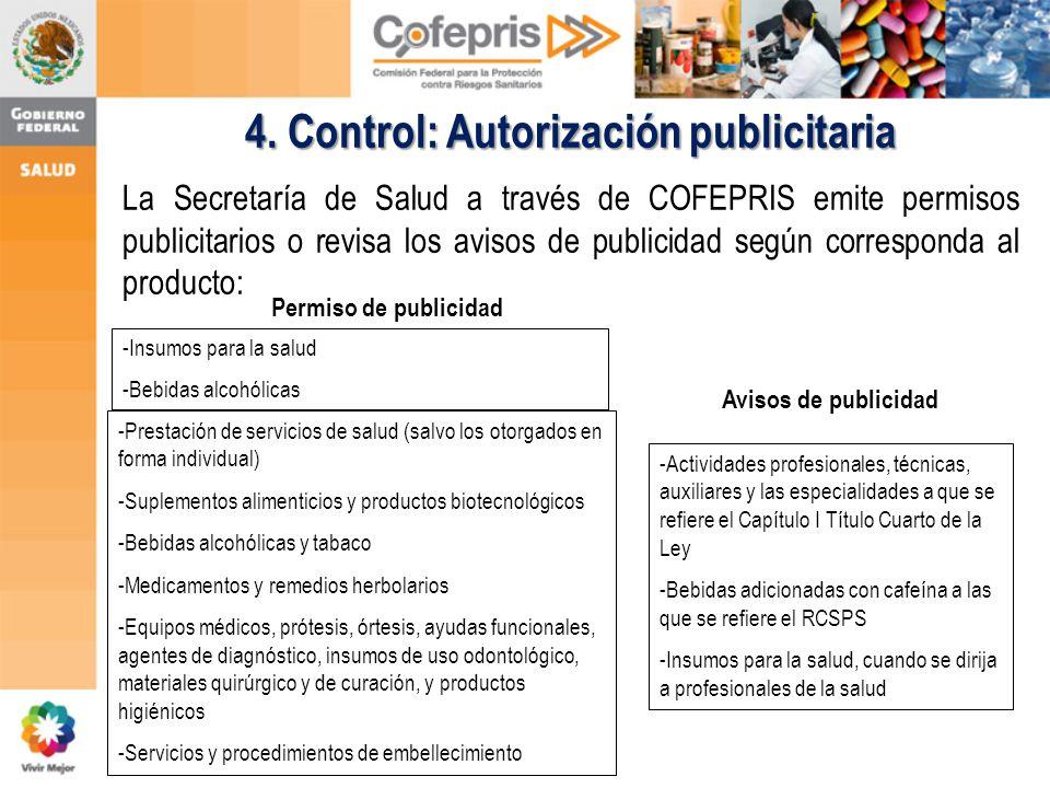 4. Control: Autorización publicitaria