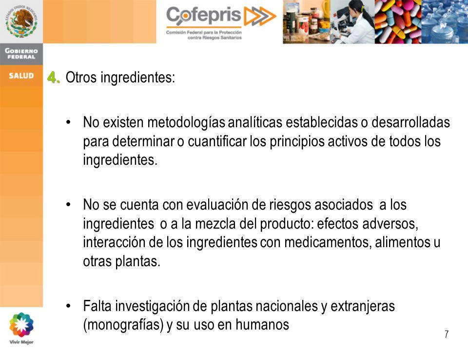 4. Otros ingredientes: