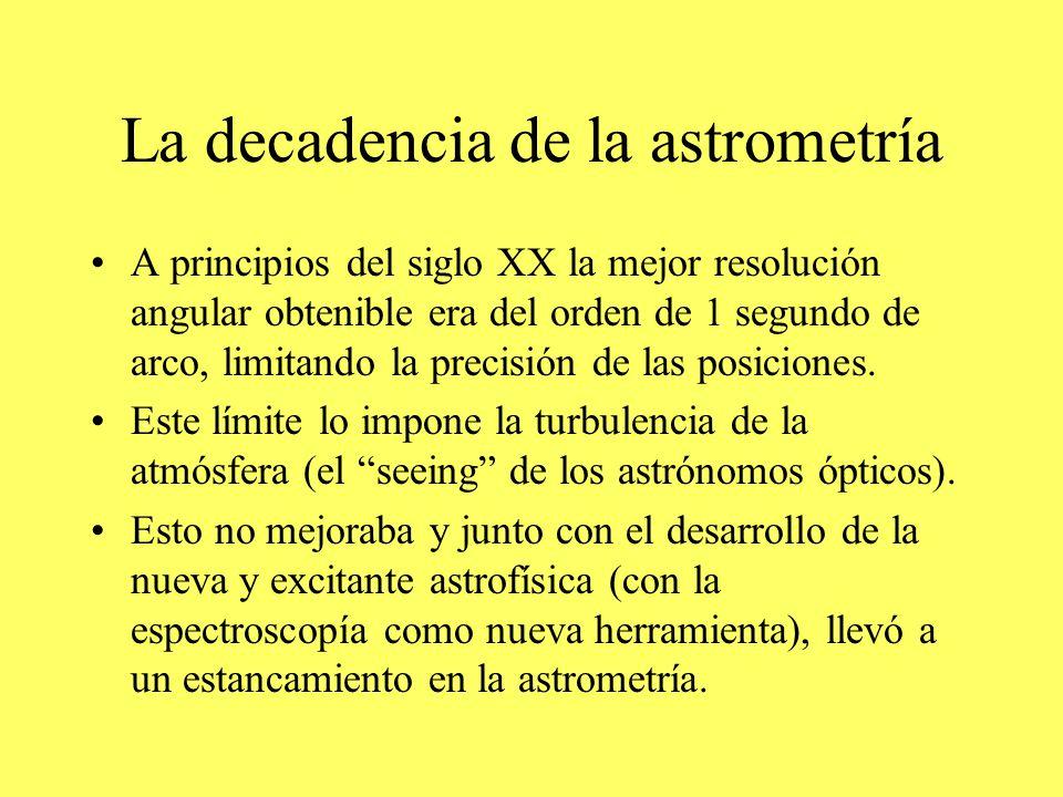 La decadencia de la astrometría