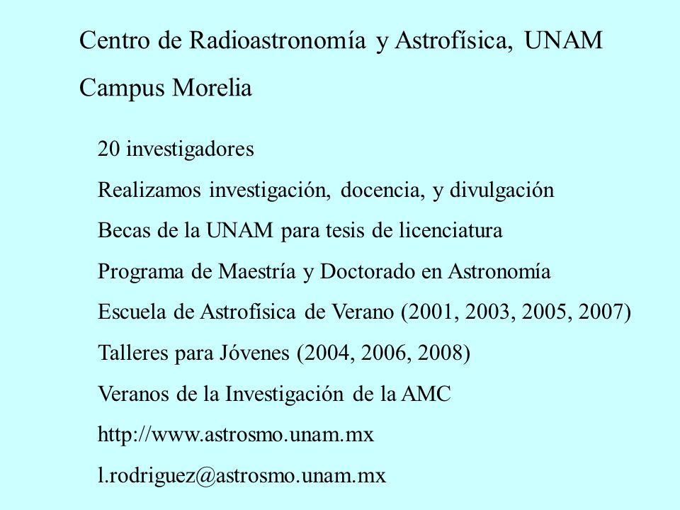 Centro de Radioastronomía y Astrofísica, UNAM Campus Morelia