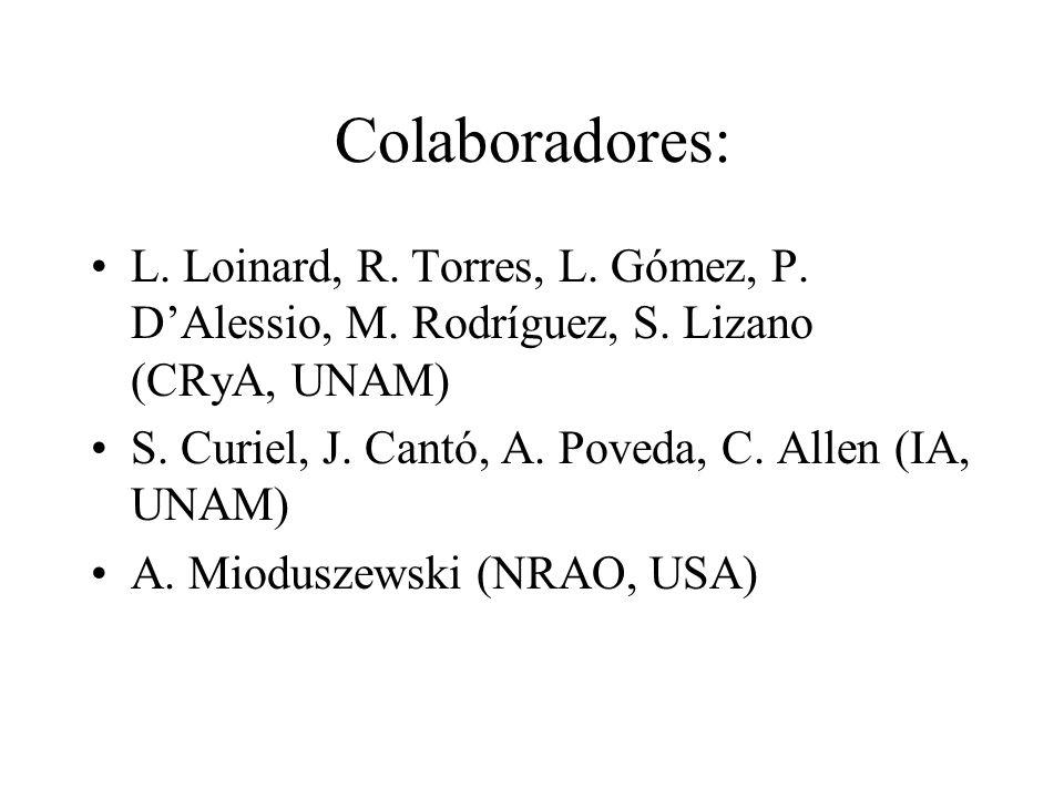 Colaboradores: L. Loinard, R. Torres, L. Gómez, P. D'Alessio, M. Rodríguez, S. Lizano (CRyA, UNAM)