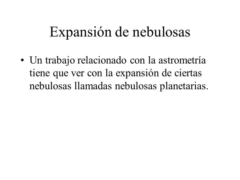 Expansión de nebulosas