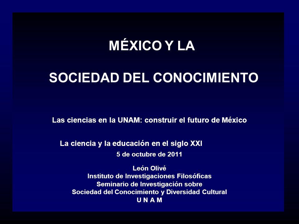 MÉXICO Y LA SOCIEDAD DEL CONOCIMIENTO