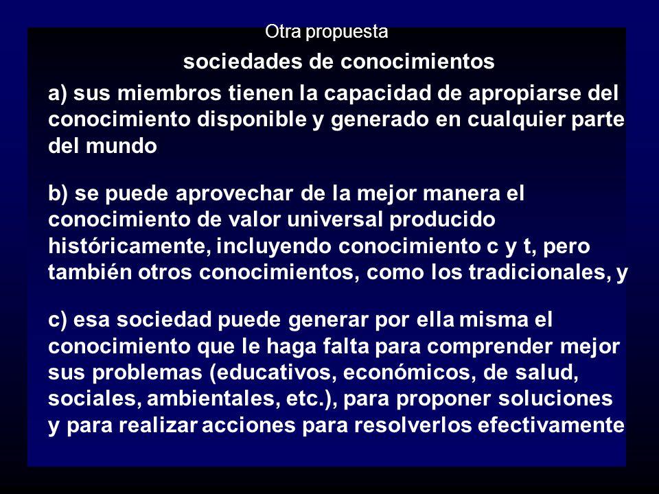 sociedades de conocimientos