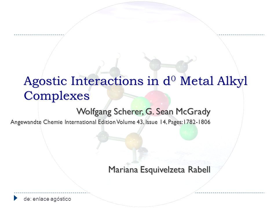 Agostic Interactions in d0 Metal Alkyl Complexes