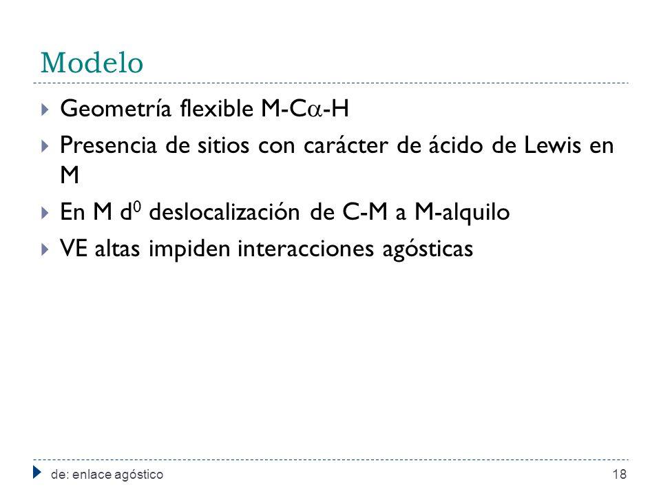 Modelo Geometría flexible M-C-H