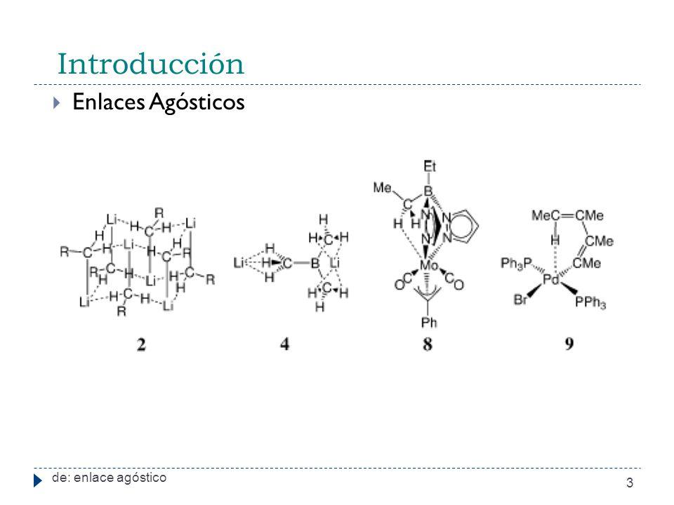 Introducción Enlaces Agósticos de: enlace agóstico