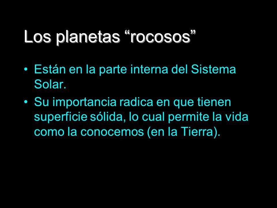 Los planetas rocosos