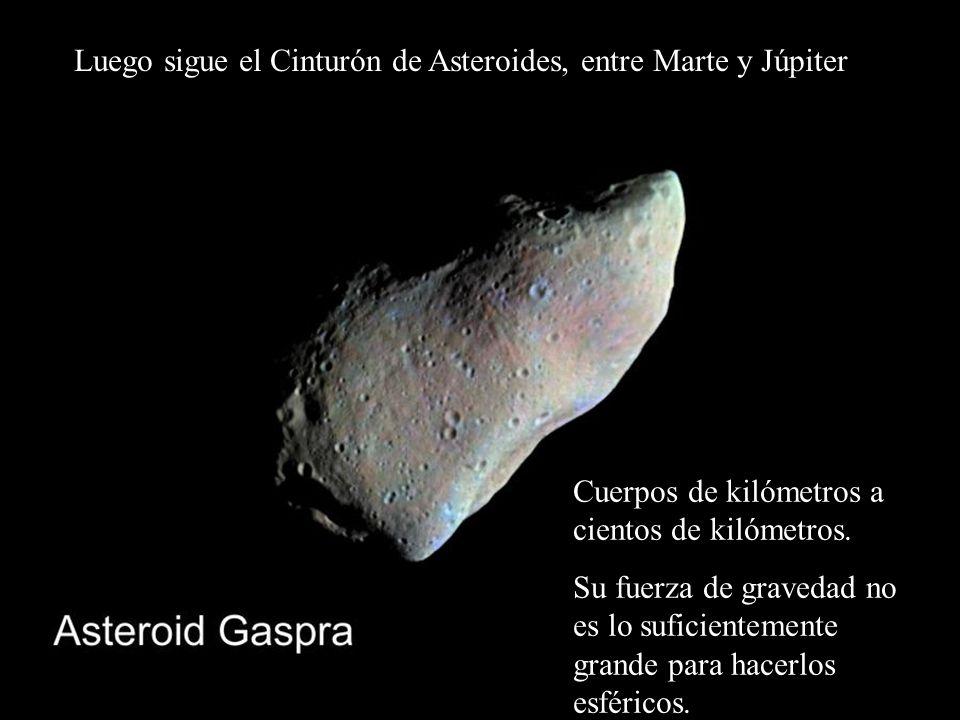 Luego sigue el Cinturón de Asteroides, entre Marte y Júpiter