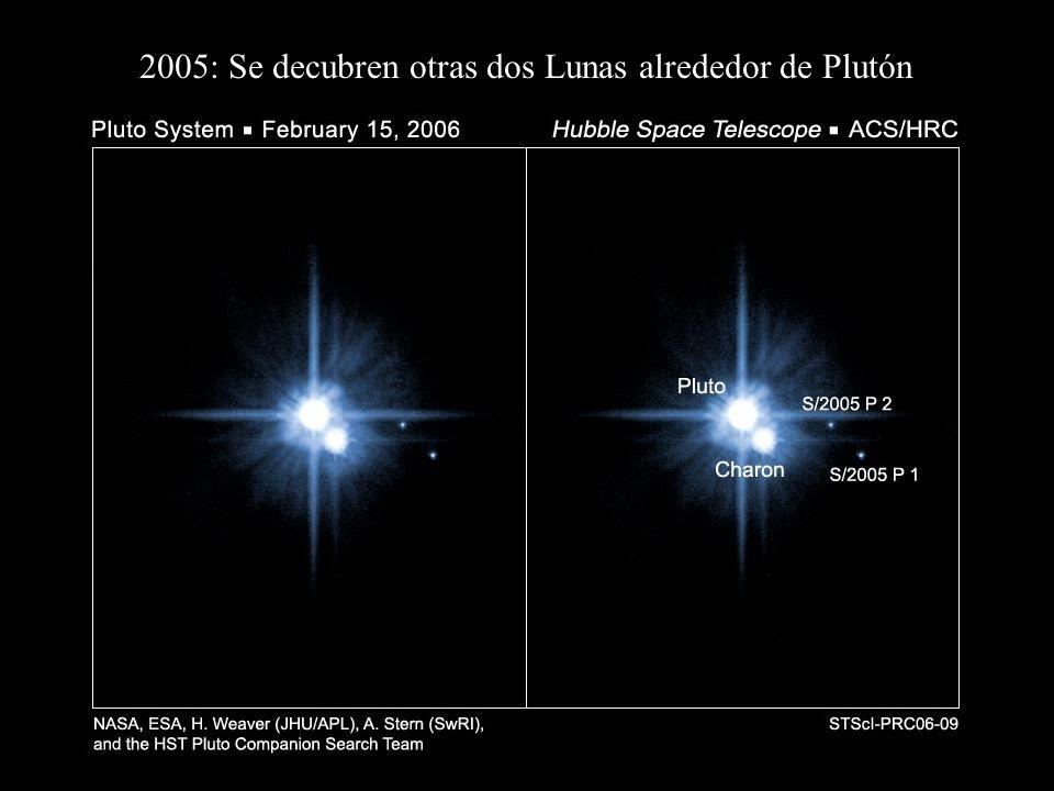 2005: Se decubren otras dos Lunas alrededor de Plutón