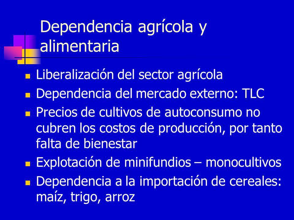 Dependencia agrícola y alimentaria