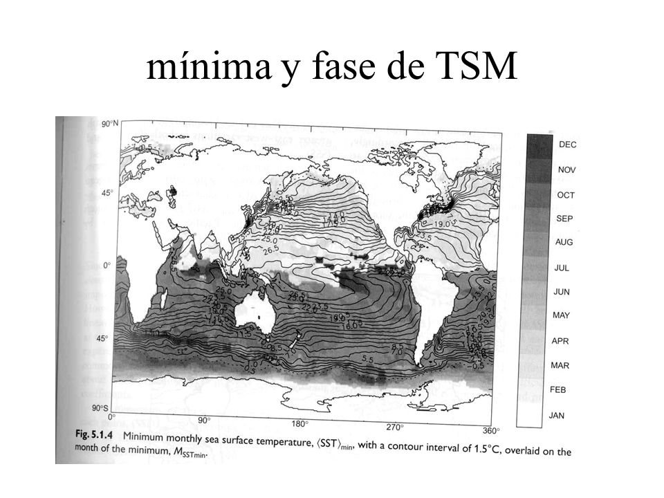 mínima y fase de TSM
