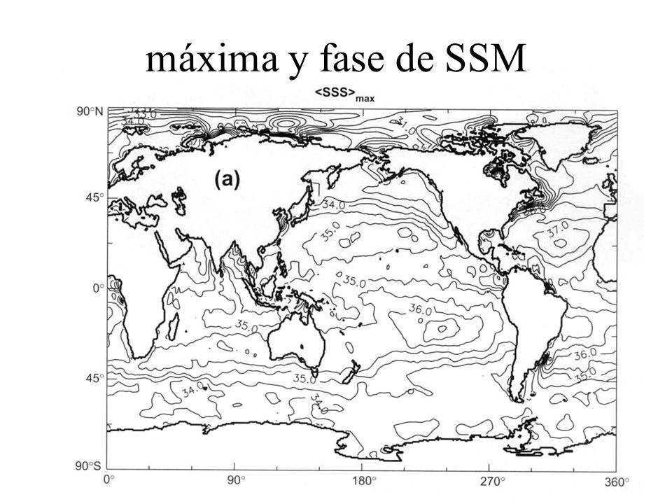 máxima y fase de SSM
